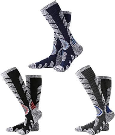XIKUN Ski Socks Men Women Warm Skiing Socks High Performance Outdoor Winter Sport Socks
