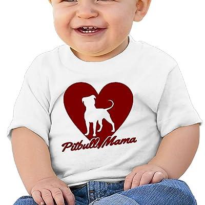ANYE&&HF Pitbull Mama Baby Girls Short-Sleeve