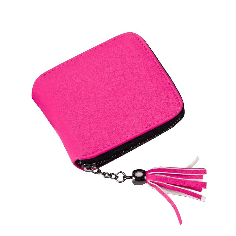 hrph donne-Cartellina portadocumenti con zip porta carte di credito PU portafoglio in pelle per cartelle Troddel ragazze porta-carte Clutch Azzurro AEQW-WER-AW125323