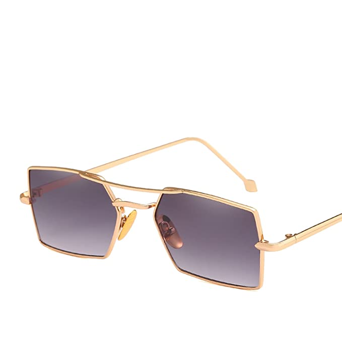 Amazon.com: Gafas de sol cuadradas de metal para tiro por la ...