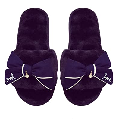 Slippers Clothing, Shoes & Accessories Aerusi Women Men Slip On Spa Slippers Winter Warm Shoes Indoor Home Flip Flops Elegant In Style