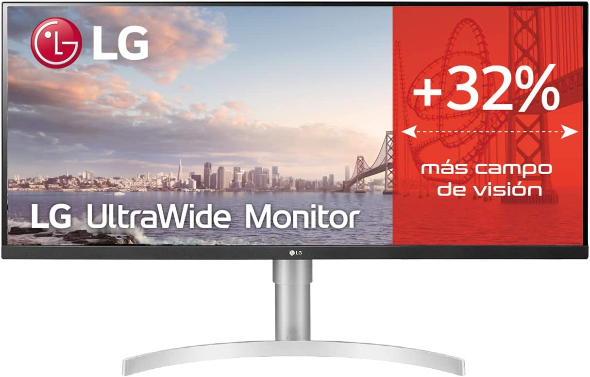 LG 34WN650-W - Monitor UltraWide Plano de 34
