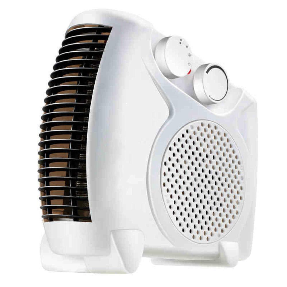 Niyake Heater Home Small Mini Heater Speed Heat Office Electric Heater Electric Fan Indoor Heater Energy Saving Heater Dormitory Bathroom-Blanco