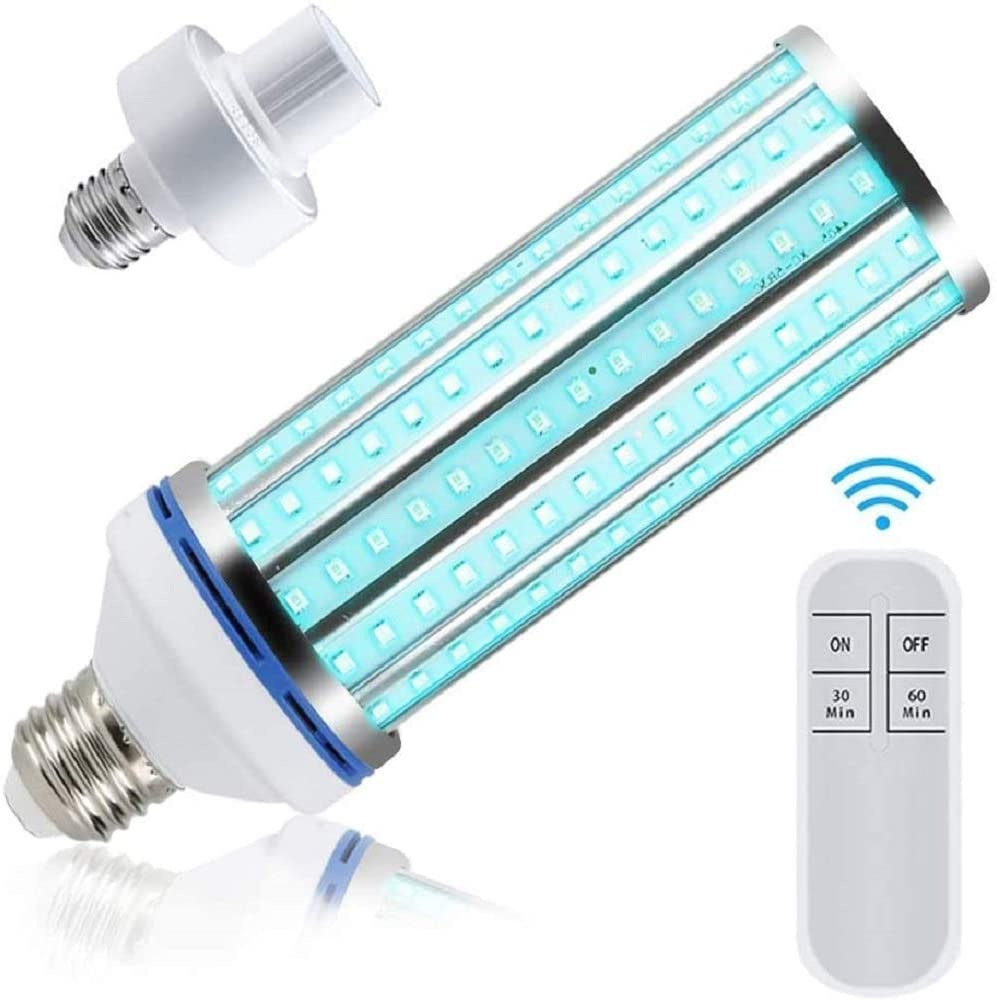 12//60W E27 LED UVC Germicidal Corn Lamp Home Sterilizing Disinfection Light Bulb