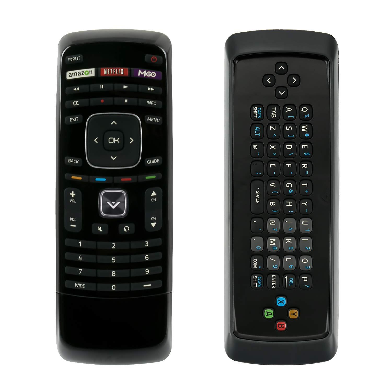 スマートTV QWERTYキーボードリモコン Vizio Smart LED LCD TV M420SV M470SV M550SV M420SL M470SL M550SL M420SV M470SV M550SV M370SR M420SR M420KD E551V A E460ME M420SR M420SV M470SV M550SV用 B07R5WW7G4