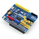 Waveshare ARPI600 IO Expansion Board for Raspberry Pi Model A+/B+/2 B /3 B for Arduino XBee Modules with Various Interface Ease to Use