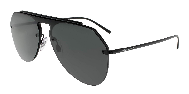 332e5854fe5 Amazon.com  Dolce and Gabbana DG2213 110687 Matte Black DG2213 Pilot  Sunglasses Lens Catego  Dolce and Gabbana  Clothing