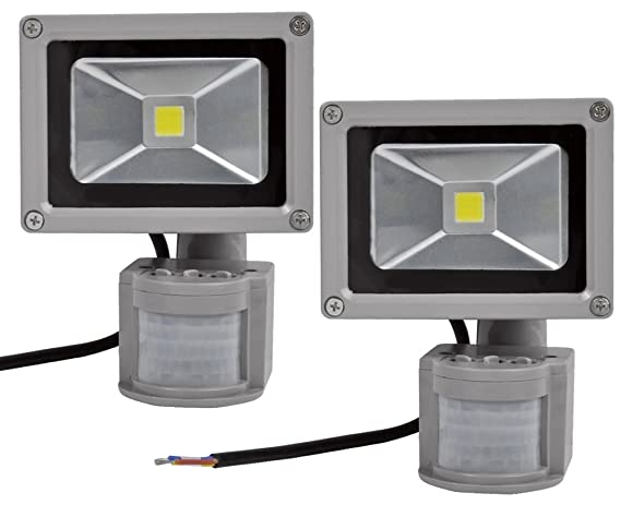 2X 10W Foco LED con Sensor Movimiento, Proyector LED ...