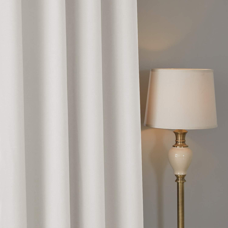 Deconovo Lot de 2 Rideau de Porte Doublure pour Chambre Enfant Salon Isolation Thermique /à Oeillets 117x138cm Gris Fonce