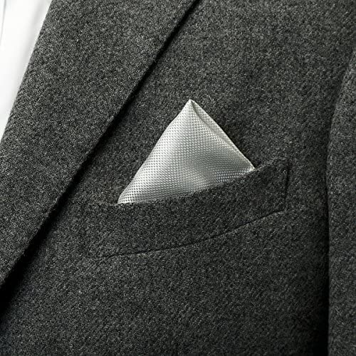 バスケット織りポケットチーフ フォーマル日本製 グレー