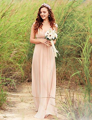 Pretty Sonrojo Mujer Noche para Ever de Cuello con V Elegante Vestido 08697 en 7dqpczq