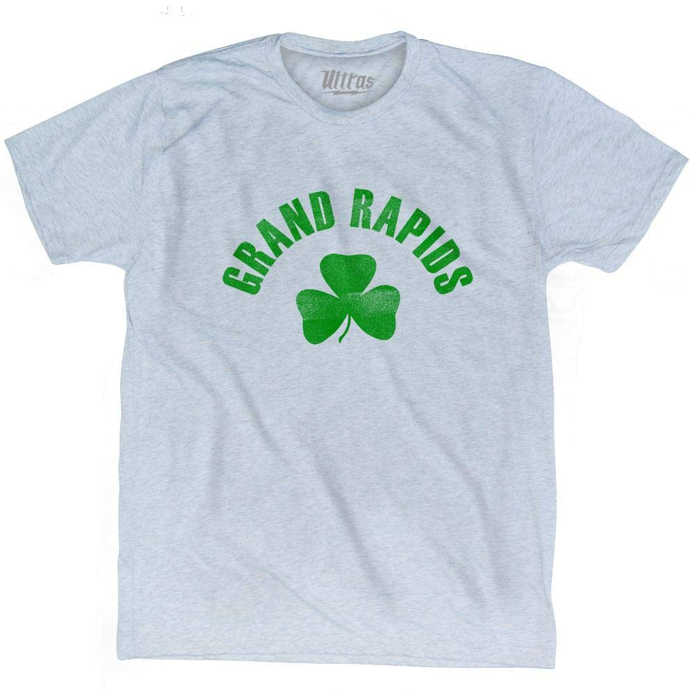 Grand Rapids City Shamrock Tri-Blend T-Shirt