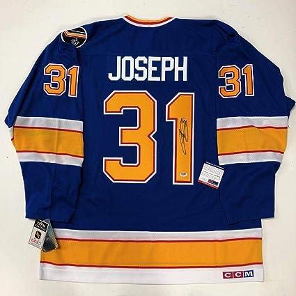 ec13c529e Signed Curtis Joseph Jersey - CCM VINTAGE NHL 75th COA AA70576 - PSA ...