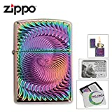 Zippo Lighter 28883 Circle Purple Spectrum Finish Collectibe Of Year Classic NEW