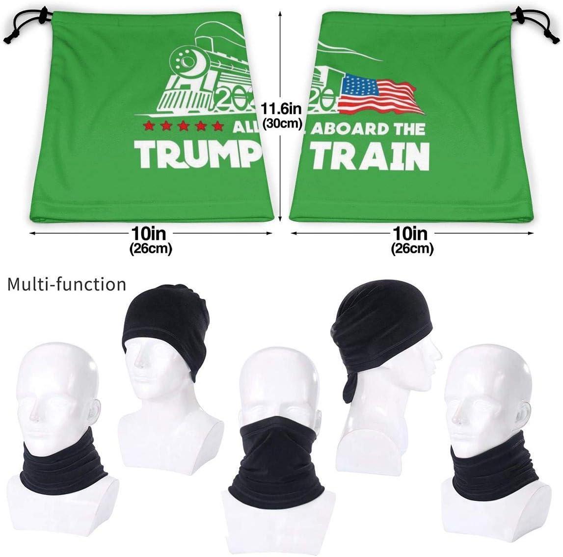 All Aboard The Trump Train 2020 Microfiber Neck Warmer Scarf Gaiter Headwear Face Mask Bandanas
