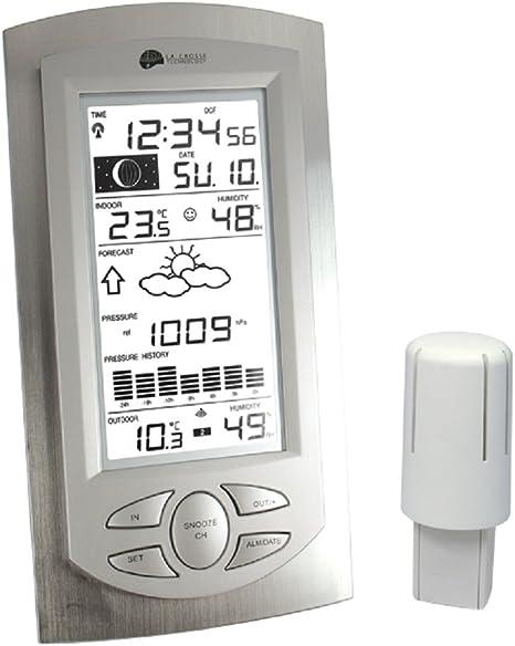 aluminio transparente La Crosse Technology WS 9032 Estaci/ón meteorol/ógica