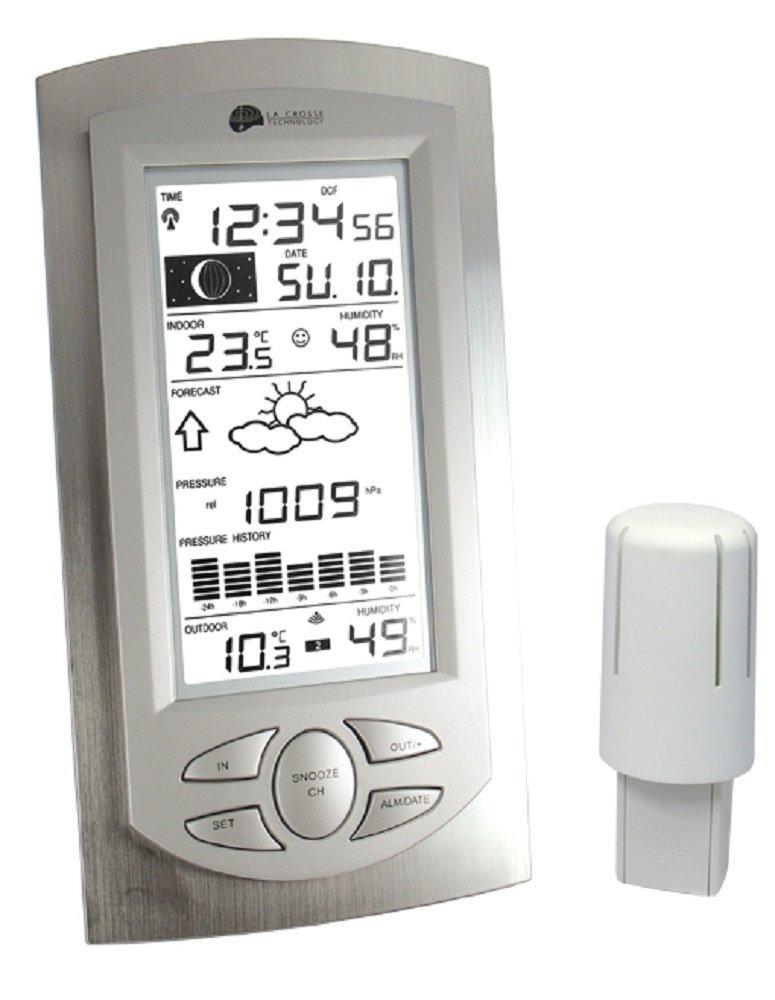La Crosse Technology WS 9032 - Estación meteorológica (aluminio), transparente: Amazon.es: Jardín