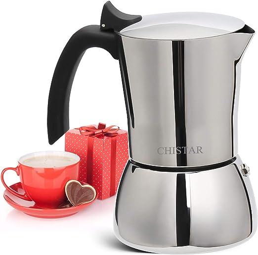 CHISTAR Cafetera Italiana Moka Cafeteras Espresso Induccion 6 ...