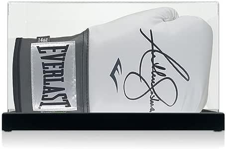 Anthony Joshua firmó el guante de boxeo Everlast blanco en el caso de exhibición: Amazon.es: Deportes y aire libre