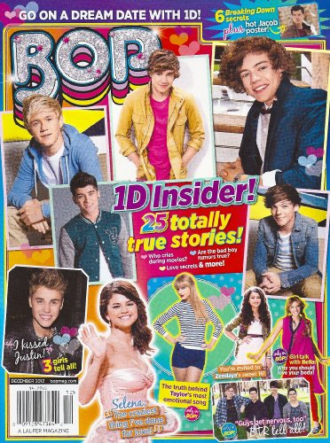 One Direction (1D), Big Time Rush, Selena Gomez, Justin Bieber, Ross Lynch, Taylor Swift, 6 GIANT POSTERS - December, 2012 Bop Magazine