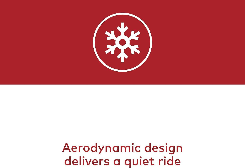 Rides Quietly YAKIMA Fits Most Roof Racks FatCat EVO Premium Ski /& Snowboard Mount Renewed