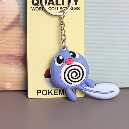 Amazon.com : 3D Anime Key Ring Pikachu Keychain Pocket ...