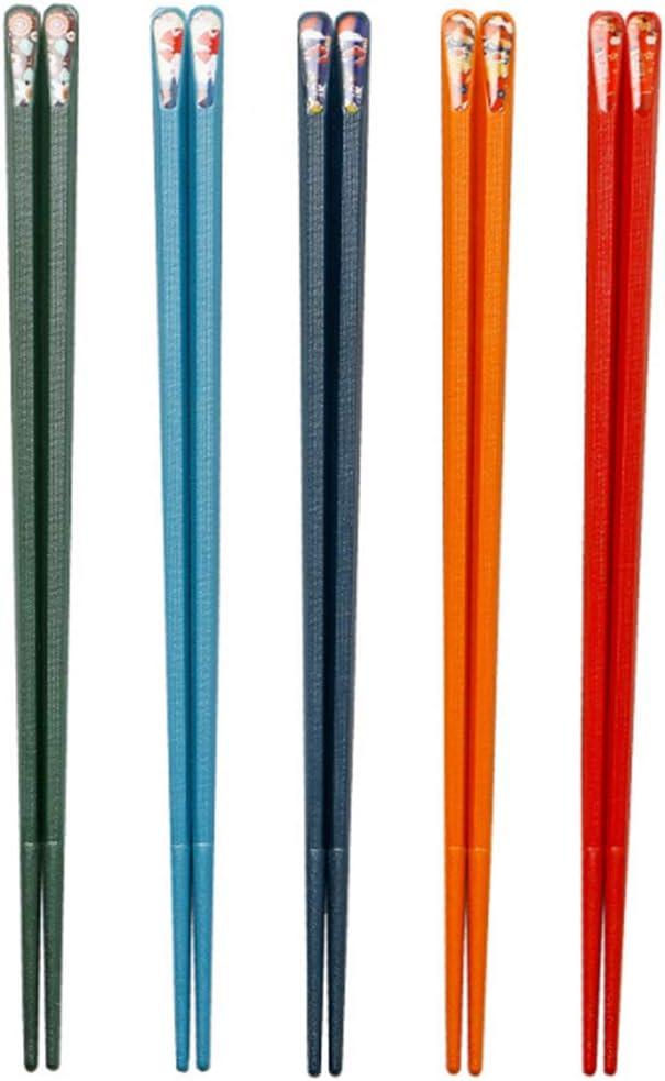 5 Pairs Fiberglass Chopsticks, Reusable Chopsticks Set Japanese Chopsticks Dishwasher Safe Colorful Chopsticks Classic Chopsticks Multipack Non-Slip Chop Sticks Pack Bulk for Restaurant Food