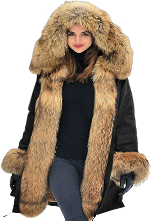 Damen Jacke Mantel Warmjacke Wintermantel Hüftlang Gr.M-3XL Elegant Coats alltag