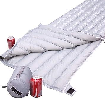 Y1cheng Saco de dormir Bolso De Dormir Largo Ultra Ligero del Ganso Blanco del Sobre Que