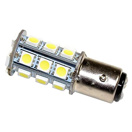HQRP Light Bulb for Perko 037512V10W 037512V25W 037524V10W, BAY15d 24LED  Cool White 10-30V DC Marine Navigation Coaster