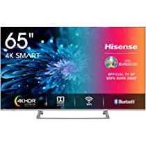 Hisense H65BE7400 Smart TV 65 4K Ultra HD, 3 HDMI, 2 USB, Salida Óptica, WiFi, Bluetooth, Dolby Vision HDR, Wide Color Gamut, Audio Dts, Procesador Quad Core, Smart TV VIDAA U 3.0