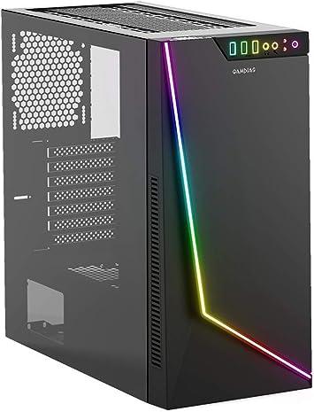 GAMDIAS Argus M1 Gaming E-ATX - Carcasa para PC de torre media, vidrio templado izquierdo con tira LED en la parte delantera, sincronización MB: Amazon.es: Electrónica