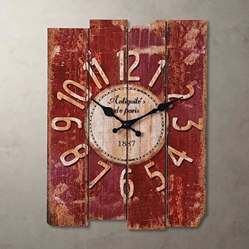 SMC H15 Country Style Vintage Wall Clock Home Decor Wood
