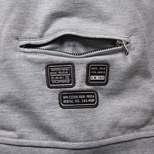 Felpa Con Zip Uomo C1044 Chiaro Grigio Sweatshirt Aeronautica Men Militare OqRgZZ