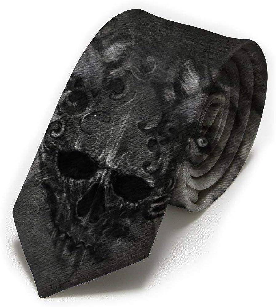 GZOSWLGS Corbata clásica para hombre, lobo gris y calavera ...