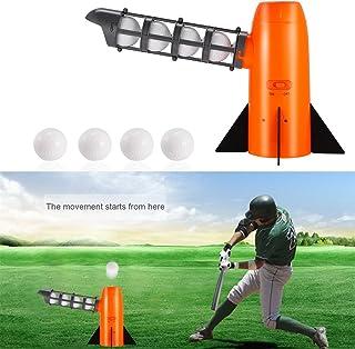 KinshopS Machine à Pitching Automatique Portable Lustre de Baseball Automatique de la Batterie de la Batterie pour Exercice Principale en Plein air