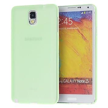 doupi UltraSlim Funda para Samsung Galaxy Note 3, Finamente Estera Ligero Estuche Protección, verde