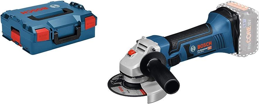 Amoladora angular a bater/ía Bosch Professional GWS 18-125 V-LI 2 bater/ías x 4.0 Ah, 18V, 10000 rpm, disco /Ø 125 mm, en L-BOXX
