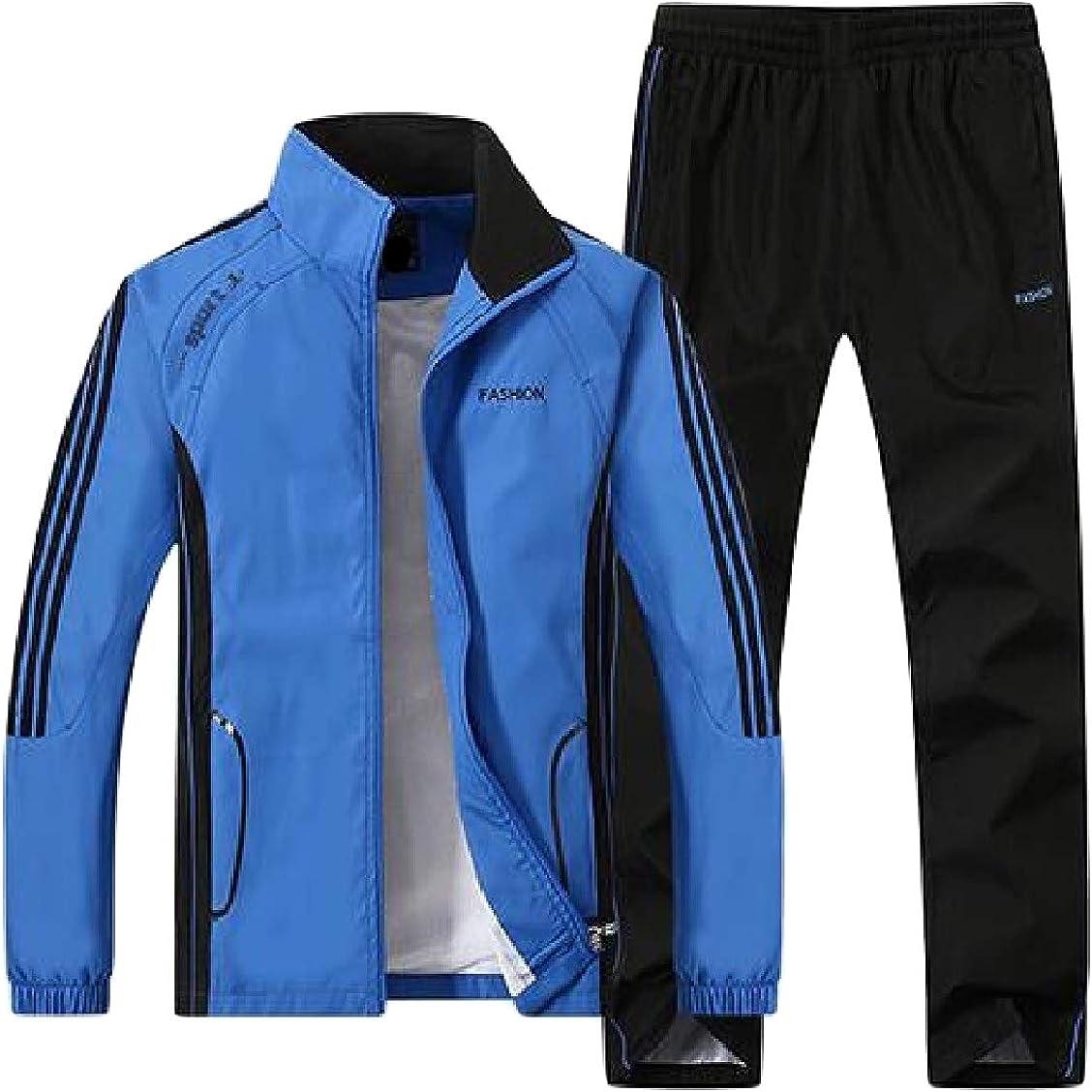 Hajotrawa Mens Sweatsuit Sweatpants 2 Pieces Sweatshirt Sport Tracksuit Set