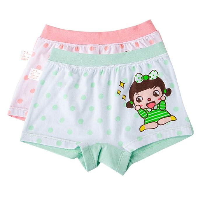 Happy Cherry Pack de 2 Braguitas Calzones Ropa Interior Infantil Boyshorts XXL para 7 - 8
