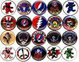 Grateful Dead x 20 1'' inch (25mm) NEW buttons pin badge logo jerry garcia bear the head