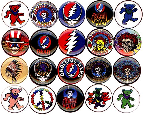 Grateful Dead x 20 1'' inch (25mm) NEW buttons pin badge logo jerry garcia bear the head by Panic Buttons (Image #3)