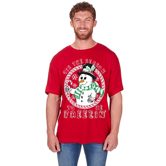 Fruit of the Loom Xmas Gift Novelty T Shirts Mens Fun Christmas Print  Cotton Tshirt  Amazon.co.uk  Clothing a87ad5e0b9e8