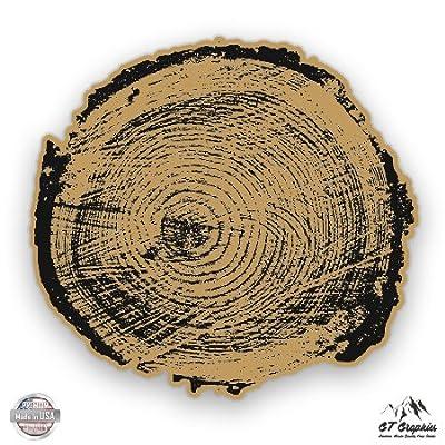Tree Rings - Vinyl Sticker Waterproof Decal