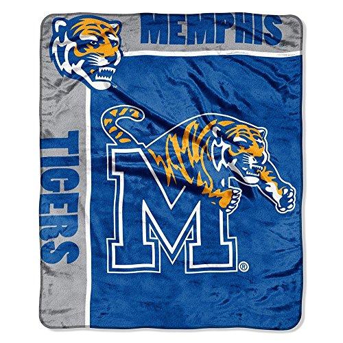 Officially Licensed NCAA Memphis Tigers School Spirit Plush Raschel Throw Blanket, 50