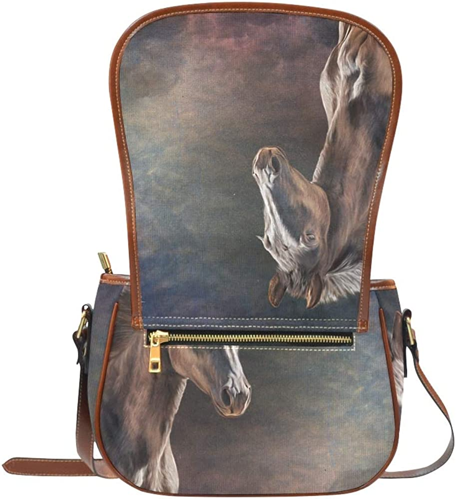 Perfect Artwork Oil Painting Modern Woman Bags Flap With Magnetic Snap Printed Casual Woman Bag Fashion Shoulder Bag