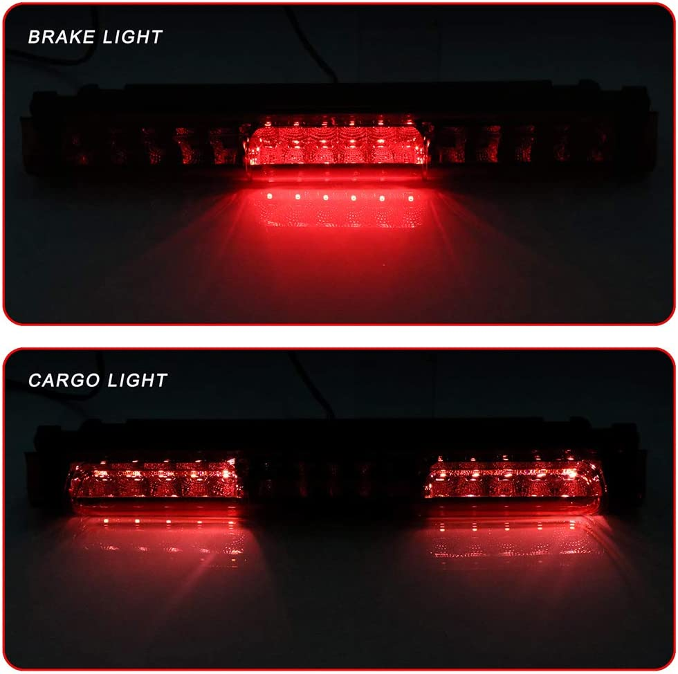 ROADFAR Third Brake Light LED 3rd Brake Light Rear Tail Brake Light Cargo Lamp Red Lens Replacement fit for 1997-2003 Ford F-150 F-250 2004 Ford F-150 F-250 Classic 2000-2005 Ford Excursion FO2890102