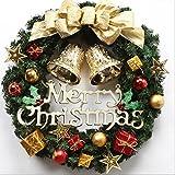 XUEXIN Christmas 35/40/50/60cm Christmas decorations Christmas Wreath Hotel ornaments ornaments ornaments , 60cm