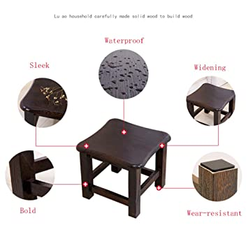 Stools Home Kitchen Rventric Retro Wooden Stool Footstool Waterproof Living Room Coffee Table Stool Environmental Protection Light Weight A Home Kitchen Stools