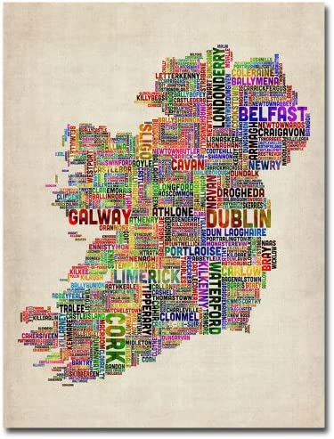 Ireland City Text Map II